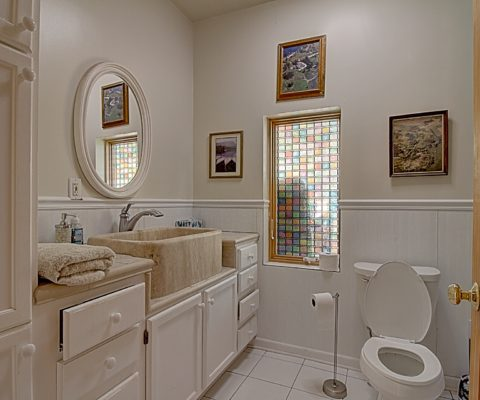 Stein Farms view of Cheret House bathroom