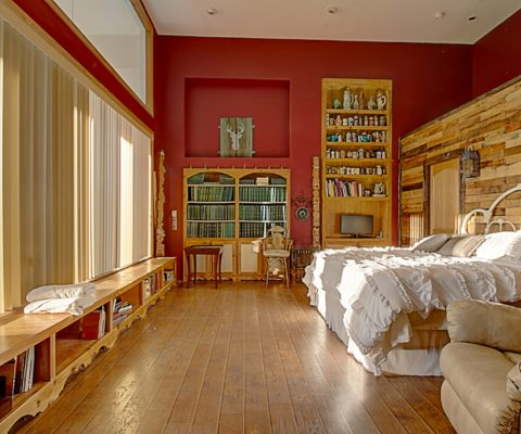 Stein Farms view of Cheret House Master Bedroom