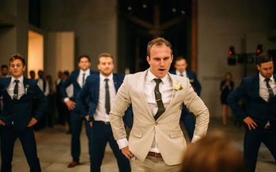 Groom Surprises Bride with Best Groomsmen Dance Ever